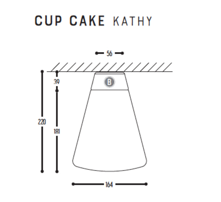 Cup cake kathy susanne uerlings plafonnier ceilling light  dark 1062 68 804002 00  design signed nedgis 68325 product
