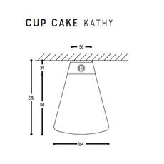 Cup cake kathy susanne uerlings plafonnier ceilling light  dark 1062 110 804002 00  design signed nedgis 68321 thumb
