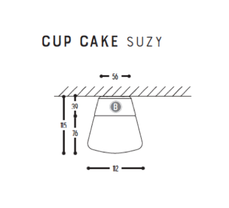 Cup cake suzy susanne uerlings plafonnier ceilling light  dark 1060 03 804002 00  design signed nedgis 68309 product