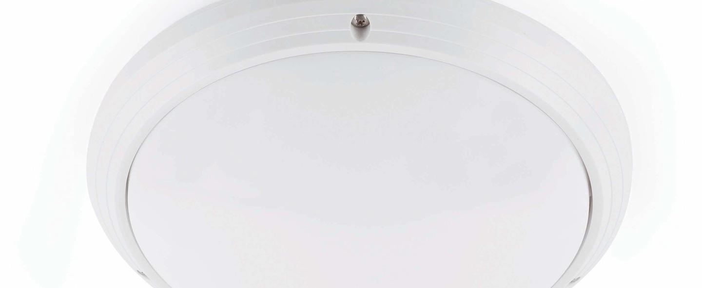 Plafonnier dakron blanc l27cm h8 5cm faro normal