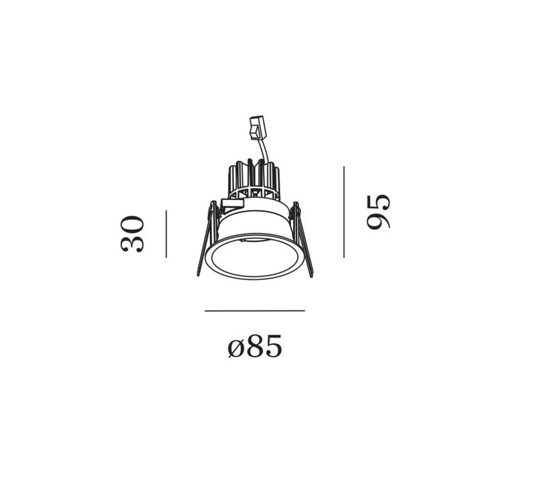 Deeper 1 0 led studio wever ducre plafonnier ceilling light  wever et ducre 152161w3  design signed nedgis 93800 product
