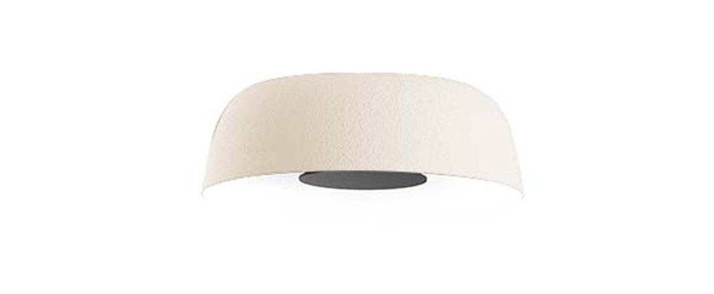 Plafonnier djembe 42 13 led dimmable blanc o40 3cm h13 5cm marset normal