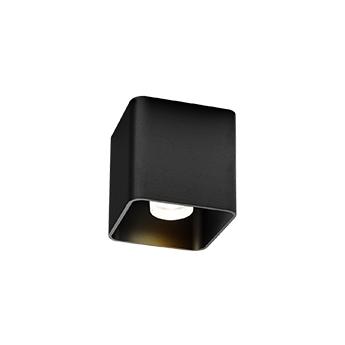 Plafonnier docus 1 0 par16 noir l9cm h9 2cm wever ducre normal