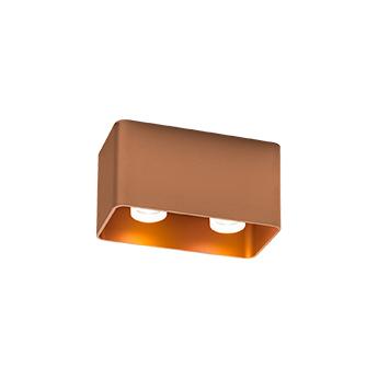 Plafonnier docus 2 0 par16 cuivre l17 4cm h9cm wever ducre normal