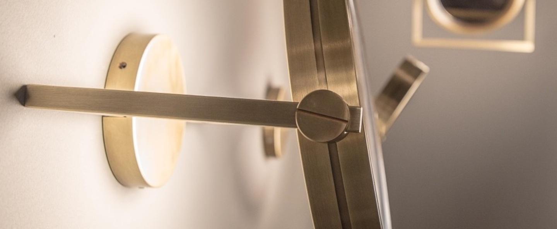 Plafonnier dorian bronze led 3000k 7500lm l56cm h33 6cm contardi normal