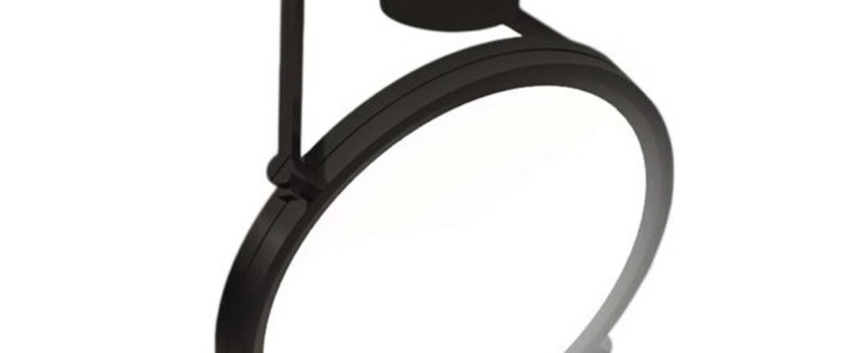 Plafonnier dorian noir mat led 3000k 7500lm l56cm h33 6cm contardi normal