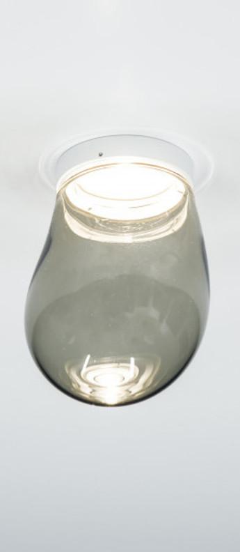 Plafonnier dropz noir led 2700 k 600 lm o10 5cm h15cm dark normal