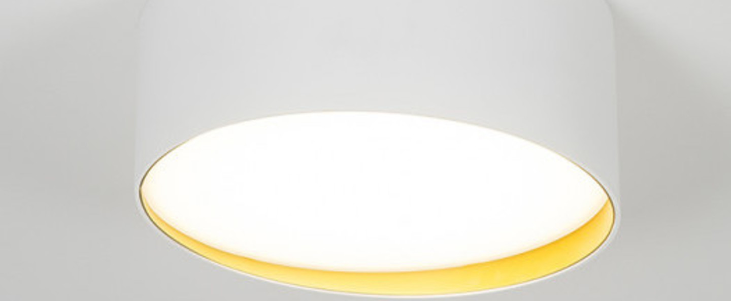 Plafonnier edgar round box1 blanc led 3000 k 1550 lm o28cm h11 5cm dark normal