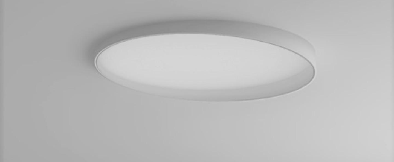 Plafonnier edgar round led 3000k ip40 blanc noir o28cm h3cm dark normal