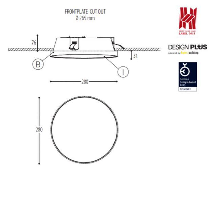 Edgar round made for dark plafonnier ceilling light  dark 945 03 810003 00 b 0  design signed 31530 product