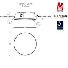 Edgar round made for dark plafonnier ceilling light  dark 945 03 810003 00 b 0  design signed 31530 thumb