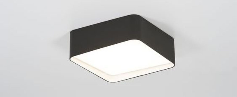 Plafonnier edgar square box1 noir led 3000 k 1350 lm o30 4cm h11 5cm dark normal