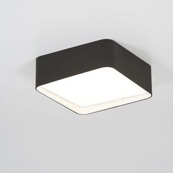 Plafonnier edgar square box1 noir led 3000 k 1350 lm o30 4cm h11 5cm dark normal