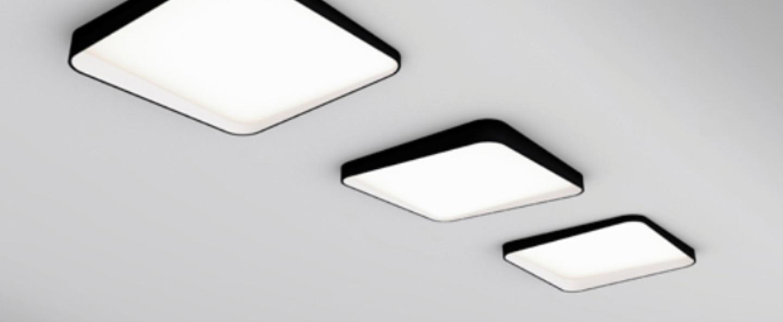 Plafonnier edgar square led 3000k ip40 noir blanc o30cm h3cm dark normal