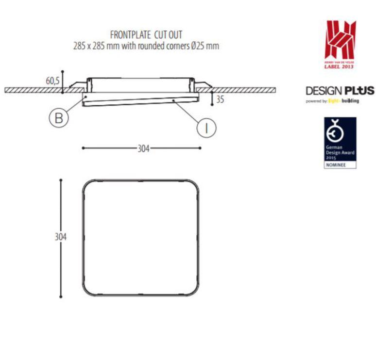 Edgar square made for dark plafonnier ceilling light  dark 940 02 809003 00 w 0  design signed 31528 product
