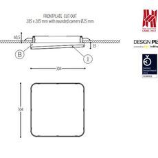 Edgar square made for dark plafonnier ceilling light  dark 940 02 809003 00 w 0  design signed 31528 thumb