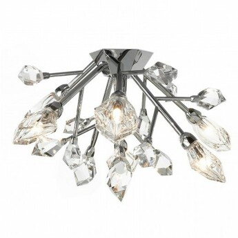 Plafonnier excess 6 lumieres cristal o73cm h45cm saint louis normal