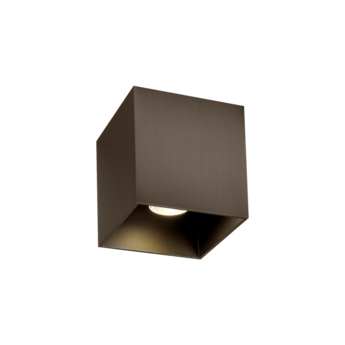 Plafonnier exterieur box 1 0 bronze ip65 led 8w 2700k 600lm l10cm h10cm wever ducre normal