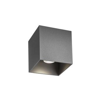 Plafonnier exterieur box 1 0 gris ip65 led 8w 2700k 600lm l10cm h10cm wever ducre normal