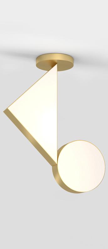 Plafonnier flat shapes laiton l40cm h55 3cm atelier areti normal