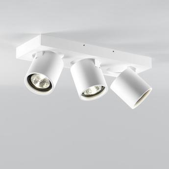 Plafonnier focus 3 blanc led 3000k 1620lm l30cm h9cm light point normal