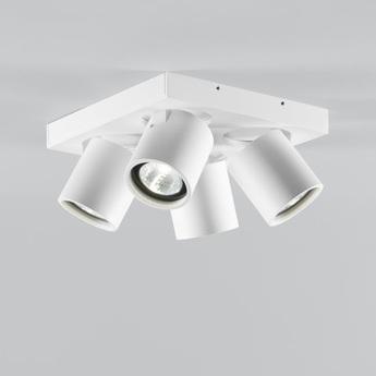 Plafonnier focus 4 blanc led 3000k 2160lm l20cm h9cm light point normal