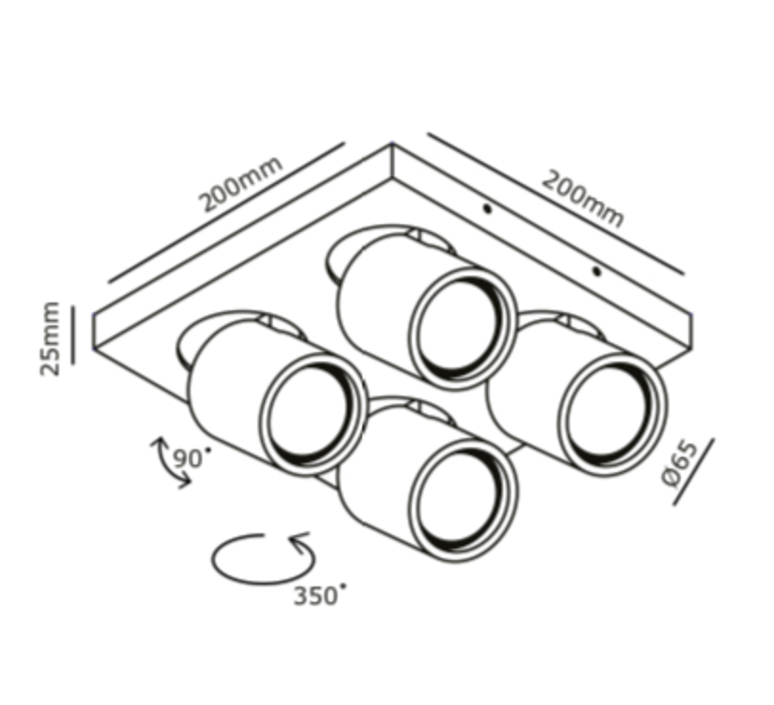 Focus 4 ronni gol plafonnier ceilling light  light point 261621  design signed nedgis 65746 product