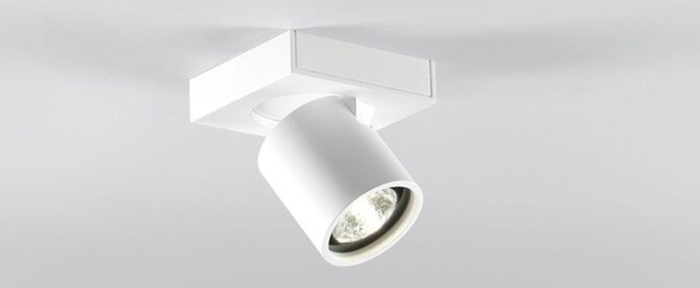 Plafonnier focus mini 1 blanc led o8cm h8cm light point normal