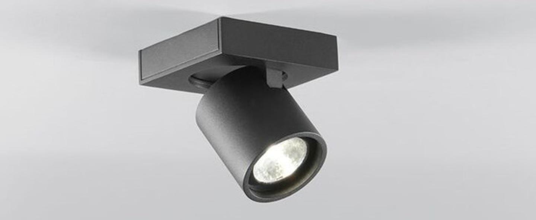 Plafonnier focus mini 1 noir led o8cm h8cm light point normal