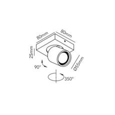 Focus mini 1 ronni gol plafonnier ceilling light  light point 261601  design signed 41446 thumb