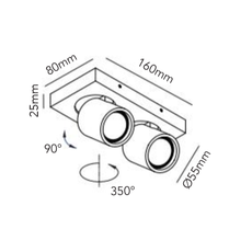 Focus mini 2 ronni gol plafonnier ceilling light  light point 261606  design signed 41448 thumb