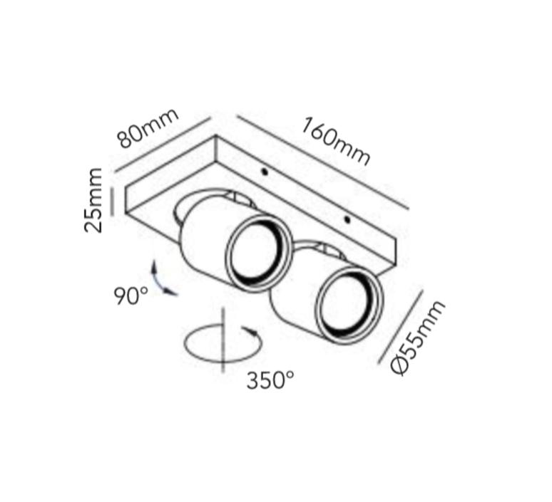 Focus mini 2 ronni gol plafonnier ceilling light  light point 261607  design signed 41451 product