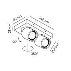 Focus mini 2 ronni gol plafonnier ceilling light  light point 261607  design signed 41451 thumb