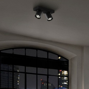 Plafonnier focus mini 2 noir led o16cm h8cm light point normal