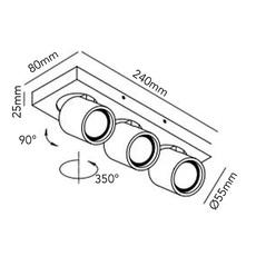 Focus mini 3 ronni gol plafonnier ceilling light  light point 261612  design signed 65580 thumb