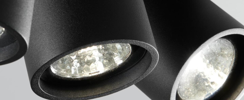Plafonnier focus mini 3 noir led o24cm h8cm light point normal