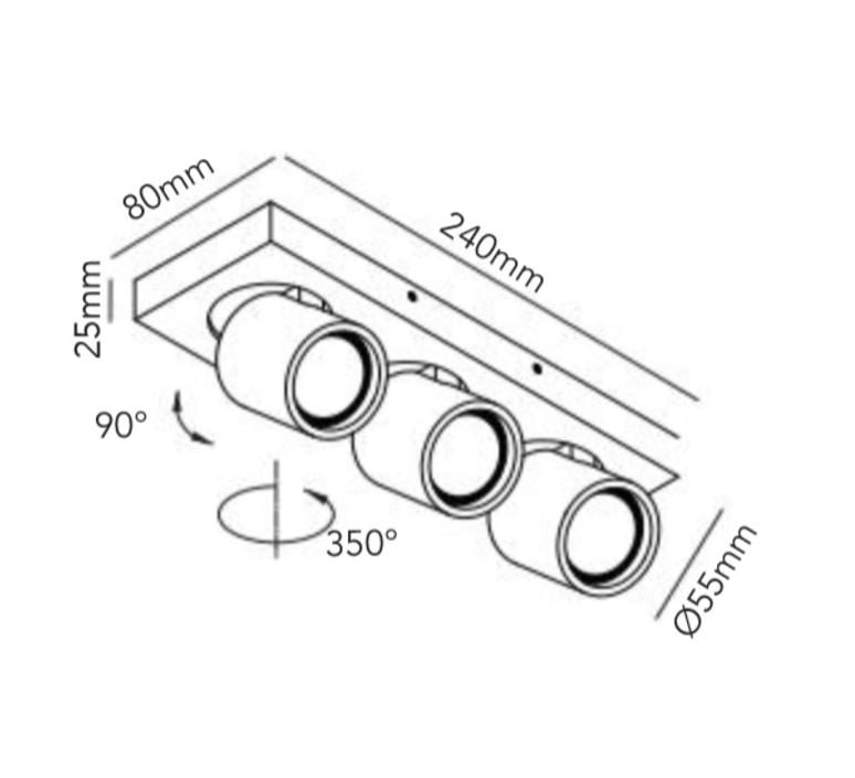 Focus mini 3 ronni gol plafonnier ceilling light  light point 261613  design signed 41456 product