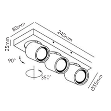 Focus mini 3 ronni gol plafonnier ceilling light  light point 261613  design signed 41456 thumb