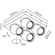 Focus mini 4 ronni gol plafonnier ceilling light  light point 261618  design signed 41459 thumb