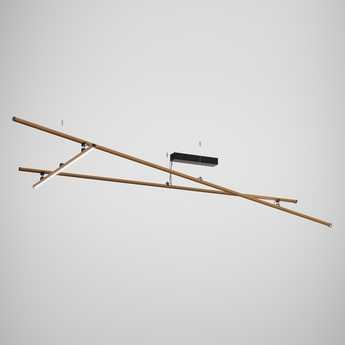 Plafonnier freeline bronze led 2700k l278 4cm h29 5cm fabbian normal