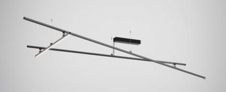 Plafonnier freeline f44 noir ip40 led dimmable 2700k l278 4cm h10cm fabbian normal