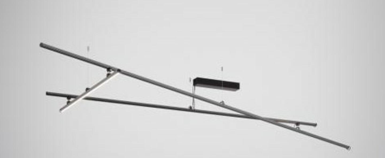 Plafonnier freeline f44 noir ip40 led dimmable 3000k l278 4cm h10cm fabbian normal