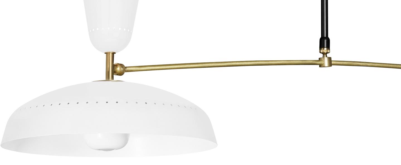 Plafonnier g1 guariche blanc l115cm h65cm sammode normal