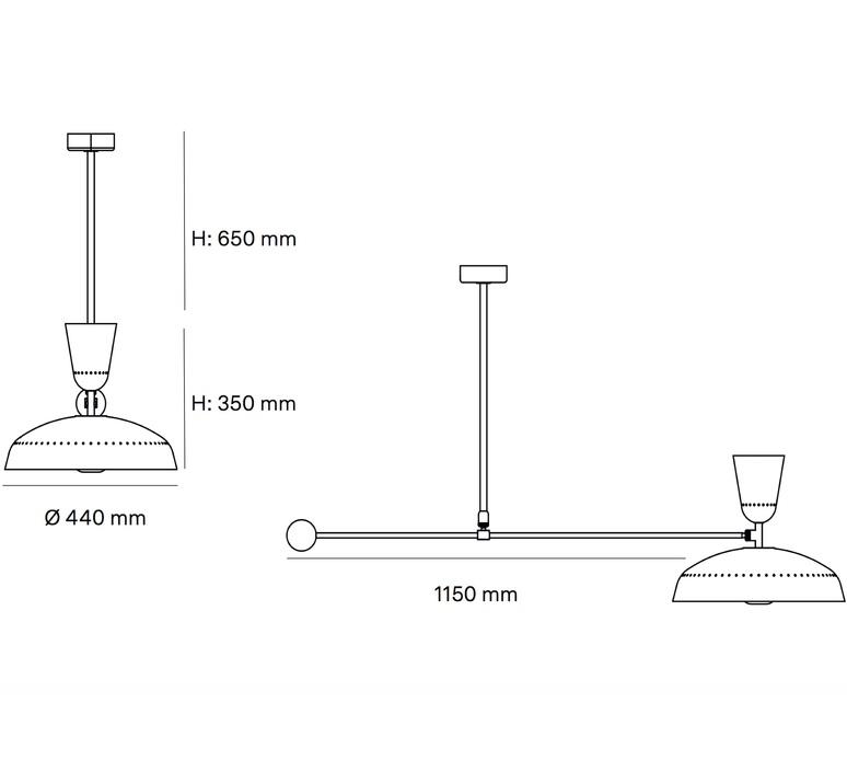 G1 guariche  pierre guariche plafonnier ceilling light  sammode g1susp ch wh  design signed nedgis 84423 product