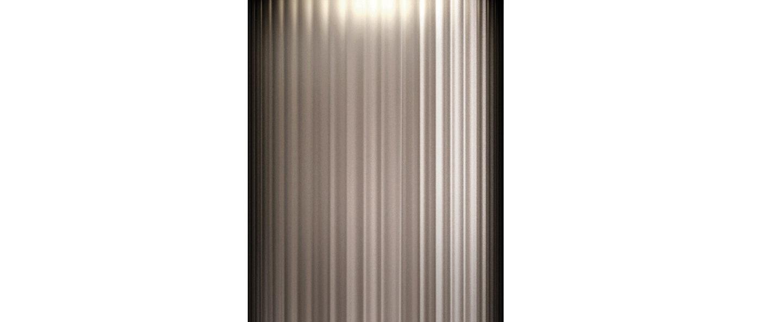 Plafonnier giass 30 gris led o30cm h45cm kundalini normal