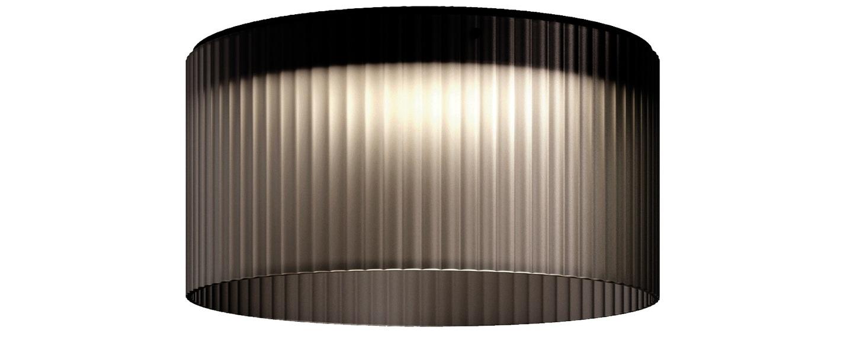Plafonnier giass 50 gris led o50cm h25cm kundalini normal