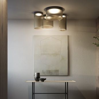 Plafonnier giass 50 gris led o50cm h25cm kundalini normal