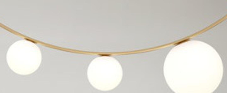 Plafonnier girlande 5 globes laiton l150cm h40 25cm atelier areti normal