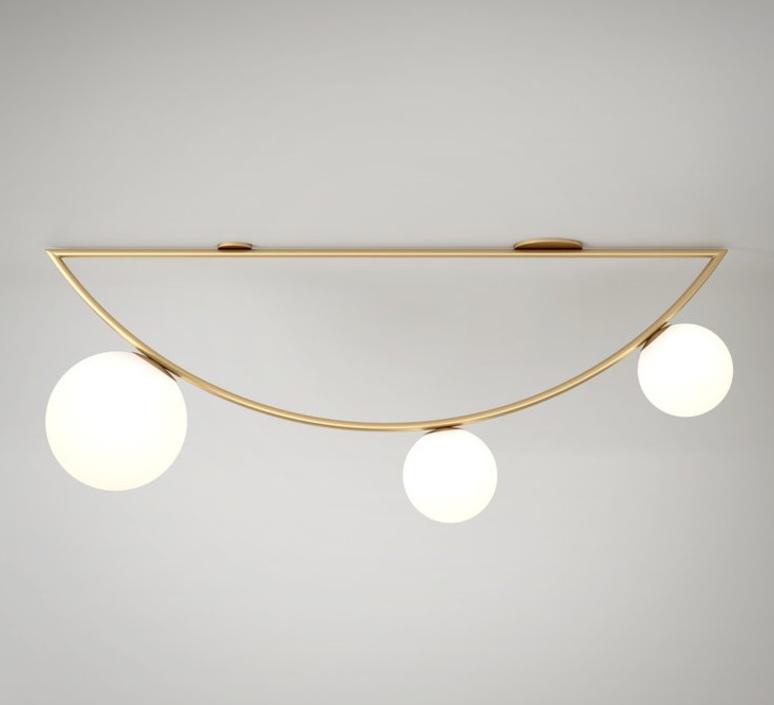 Girlande single gwendolyn et guillane kerschbaumer plafonnier ceilling light  atelier areti girlande ceilingsingle brass  design signed 44105 product
