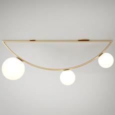 Girlande single gwendolyn et guillane kerschbaumer plafonnier ceilling light  atelier areti girlande ceilingsingle brass  design signed 44105 thumb